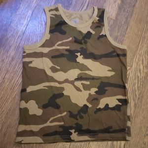 Army camouflage Tank Top